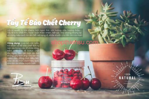 Công dụng kem tẩy tế bào chết cherry Pizu