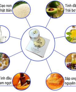 Thành phần kem dưỡng trắng da mặt sữa gạo non pizu