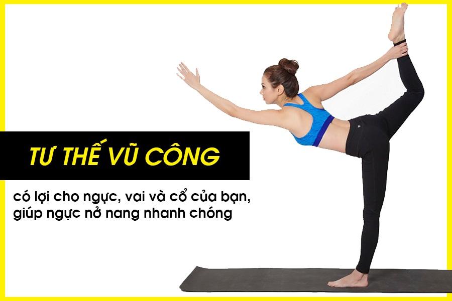 Bài tập yoga tư thế vũ công giúp vòng 1 đẩy đà