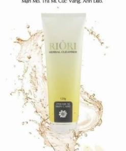 Sữa rửa mặt thảo dược riori herbal cleanser - 2