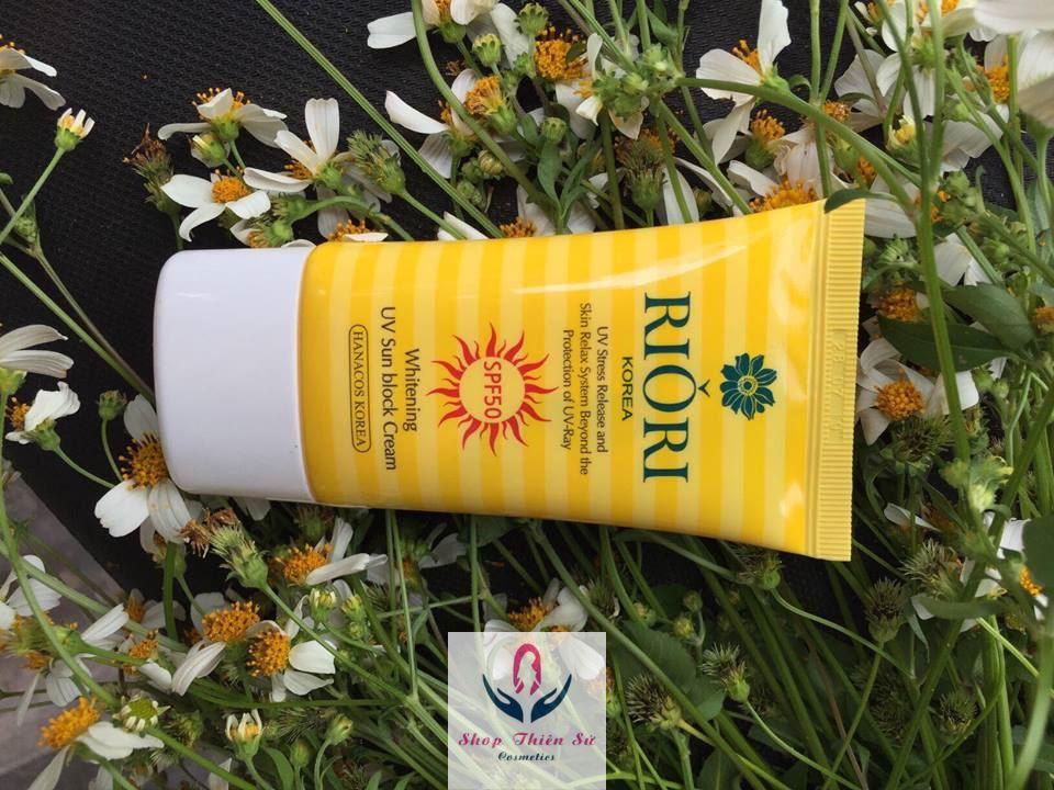 Kem chống nắng vật lý kết hợp hóa học sun cream riori spf50 - 2