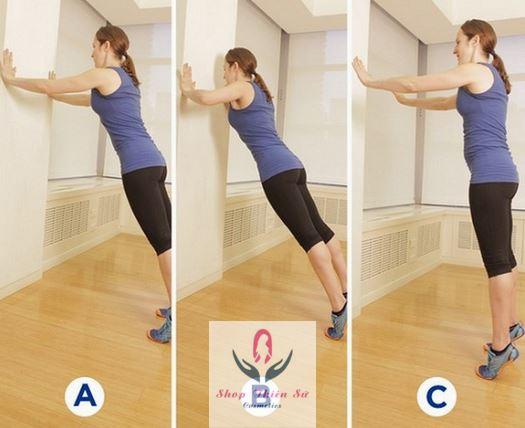 Cách làm tăng vòng 1 ở tuổi dậy thì bằng bài thể dục chống đẩy lên tường