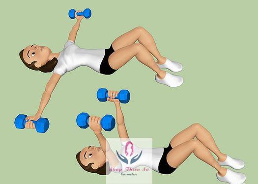 Cách làm tăng vòng 1 ở tuổi dậy thì bằng động tác nâng tạ