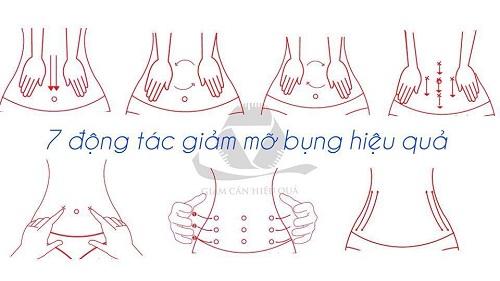 Động tác massage giảm mỡ bụng