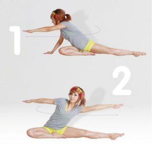 Bài tập yoga giảm cân trước khi đi ngủ động tác vận động thắt lưng