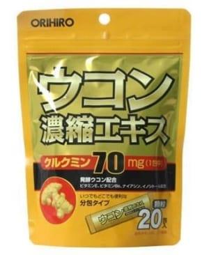 Tinh bột nghệ giải rượu Nhật Orihiro 20 gói
