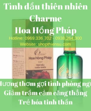 Tinh dầu thiên nhiên hoa hồng Pháp Charme 30ml