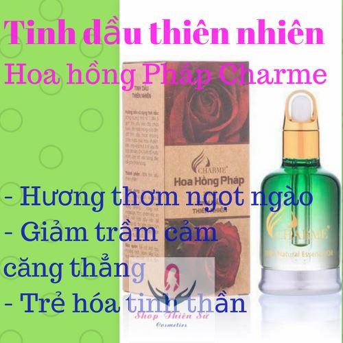 Tinh dầu thiên nhiên hoa hồng Pháp Charme hỗ trợ điều trị chứng bệnh trầm cảm
