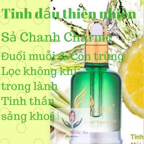 Tinh dầu thiên nhiên hương sả chanh Charme xua muỗi an toàn