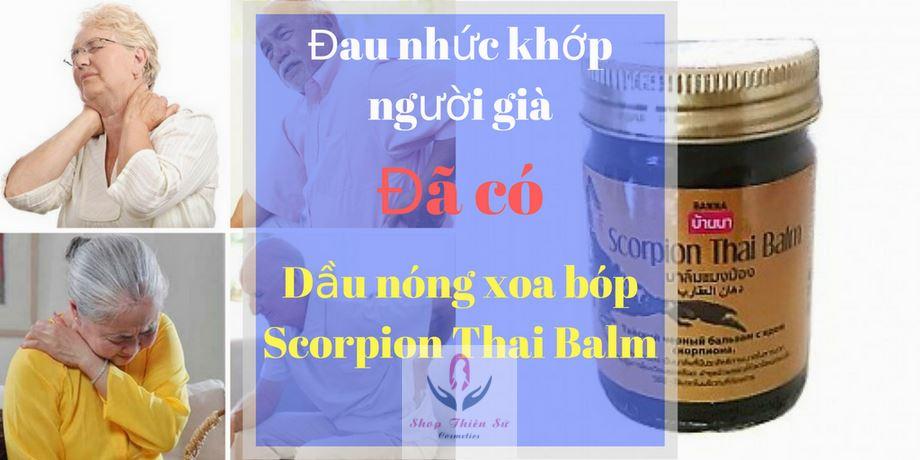 Dầu Nóng Xoa Bóp Scorpion Thai Balm trị đau khớp