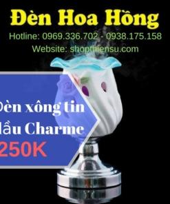 Đèn xông tinh dầu đèn Hoa Hồng Charme