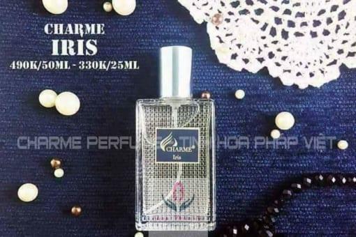Nước hoa Charme Iris với thiết kế tao nhã