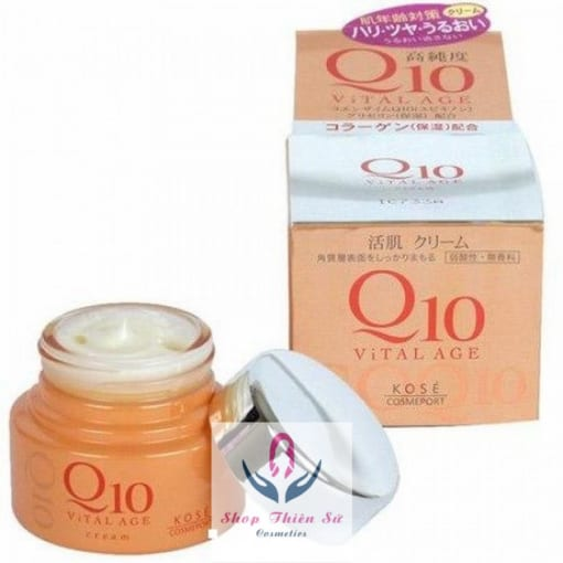 Kem dưỡng đêm loại bỏ vết nhăn Q 10 Kose tái tạo tế bào da