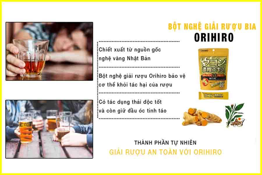 Bột nghệ giải rượu bia Orihiro