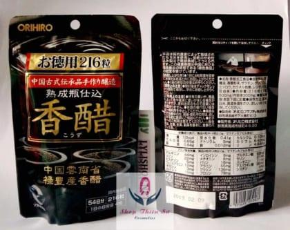 dấm đen gạo lức nhật bản orihiro dạng viên