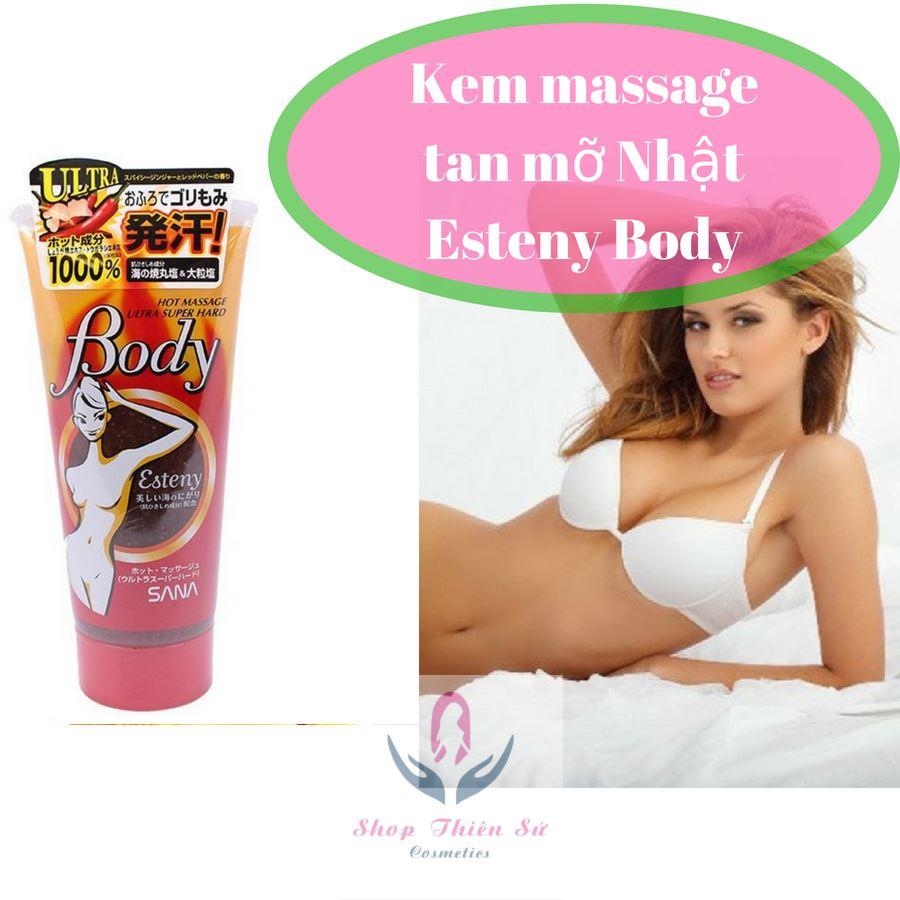 Kem massage tan mỡ bụng Esteny Body Super Hot Japan 240g