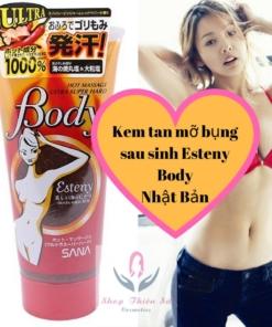 Kem massage tan mỡ bụng Esteny Body Super Hot Nhật Bản 240g