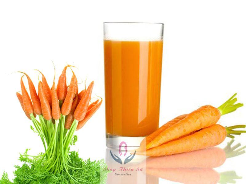 thức uống giảm mỡ bụng giảm cân sinh tố cà rốt giảm cân