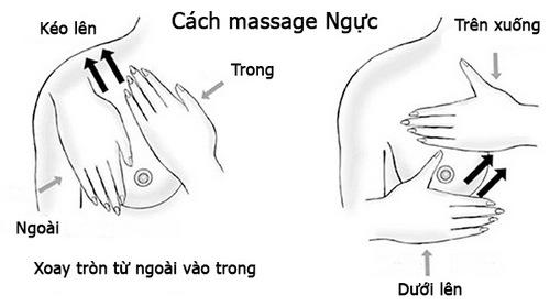 Cách massage ngực Palmer