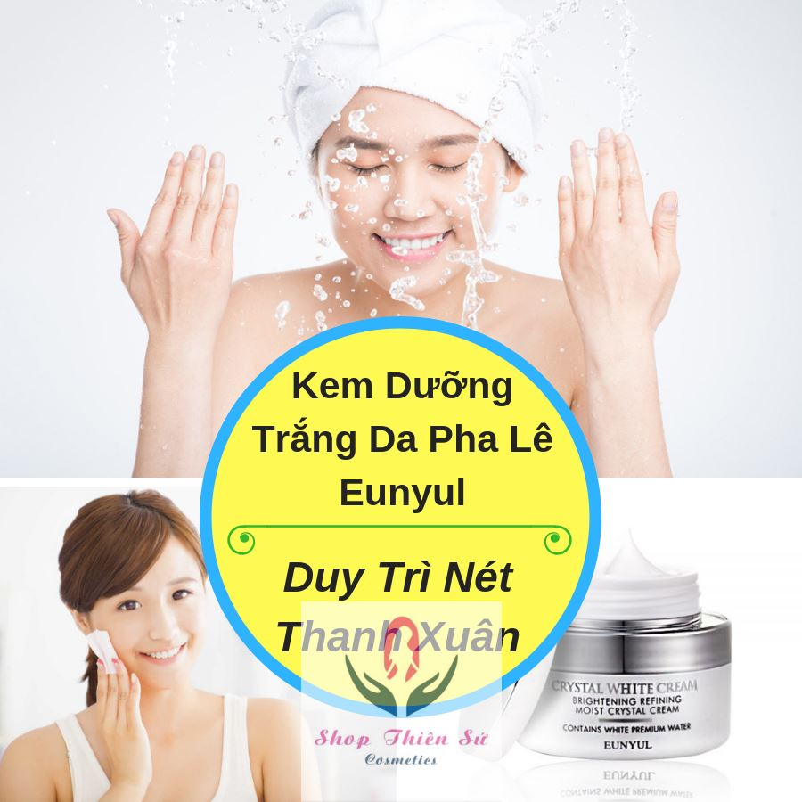 Kem dưỡng trắng da pha lê Eunyul Crystal White Face Cream
