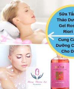 Sữa Tắm Thảo Dược Gel Rose Riori cung cấp dưỡng chất cho da