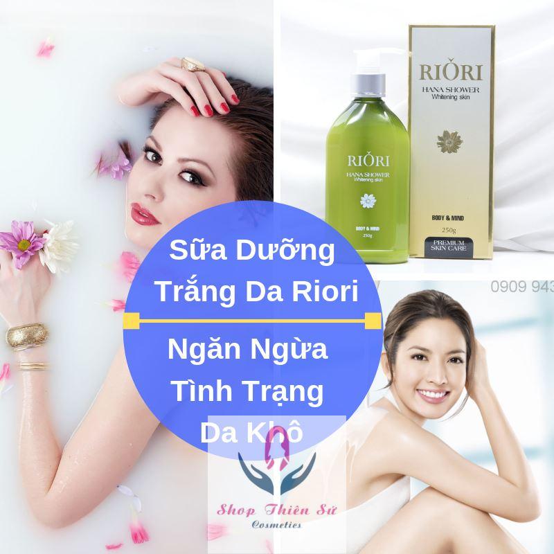 Sữa Tắm Trắng Hana Shower Whitening Skin Riori ngăn ngừa tình trạng da khô