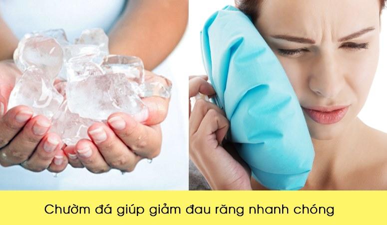 Chườm đá giúp giảm đau răng nhanh chóng