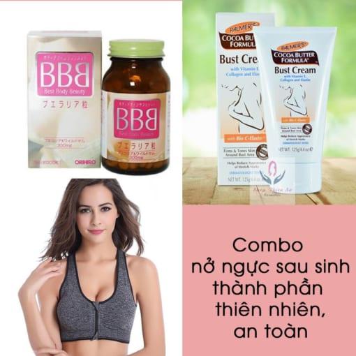 Combo nở ngực sau sinh thành phần thiên nhiên an toàn