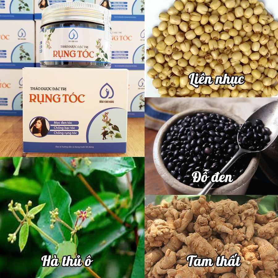 Thành phần của Thuốc trị rụng tóc thảo dược Nam Hoàng