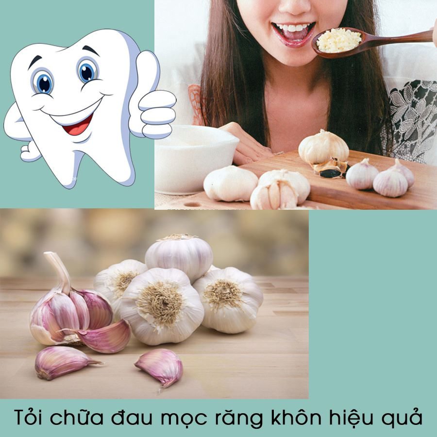 Tỏi chữa đau mọc răng khôn hiệu quả