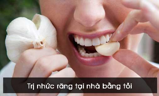 Trị nhức răng tại nhà bằng tỏi