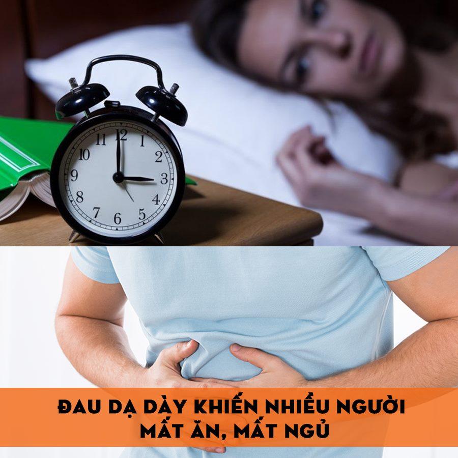 Đau dạ dày gây mất ăn mất ngủ
