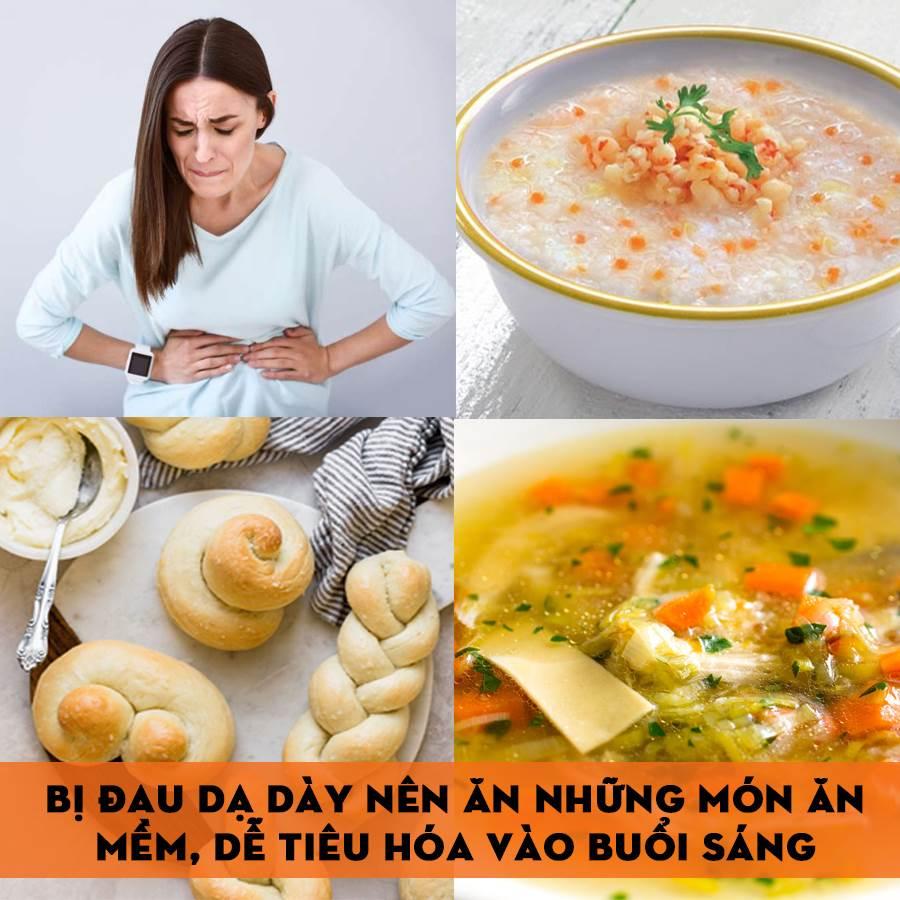 Món ăn nên ăn buổi sáng khi bị đau dạ dày