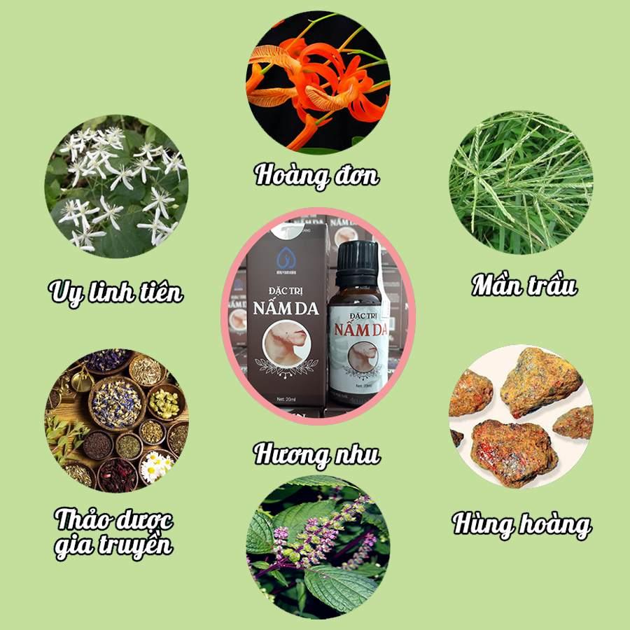 Các thành phần chính thuốc trị nấm da Nam Hoàng