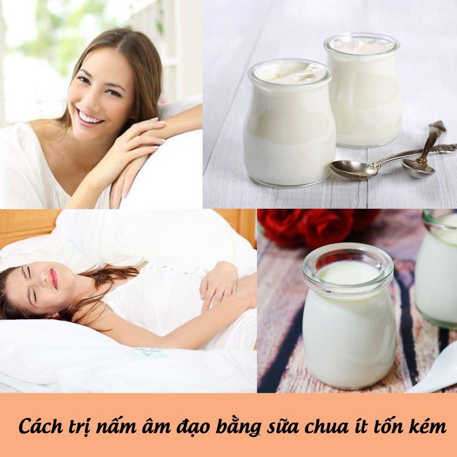 Cách trị bệnh viêm nấm âm đạo bằng sữa chua