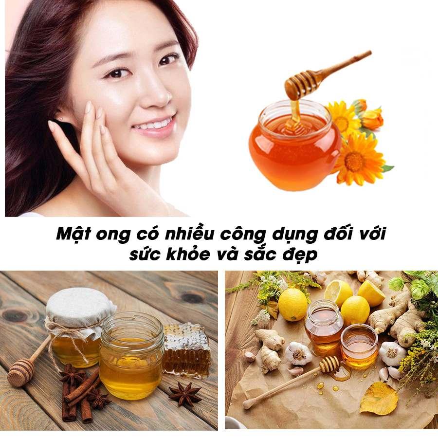 Mật ong có nhiều công dụng đối với sức khỏe và sắc đẹp