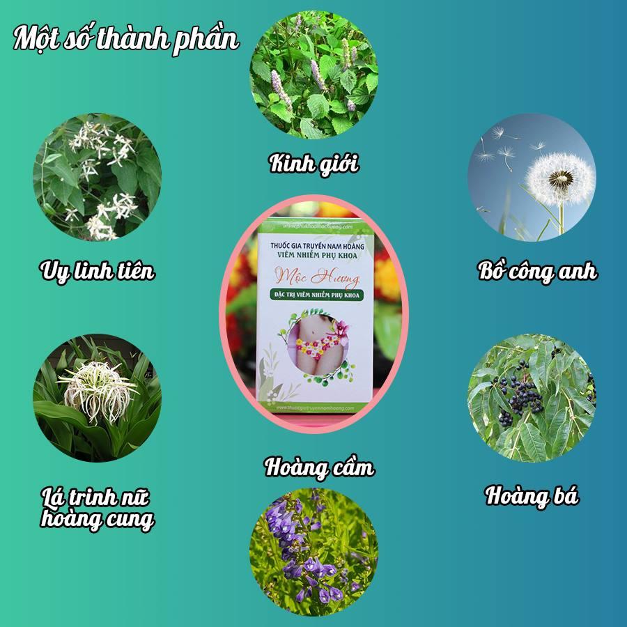 Một số thành phần của thuốc trị viêm nhiễm phụ khoa Mộc Hương
