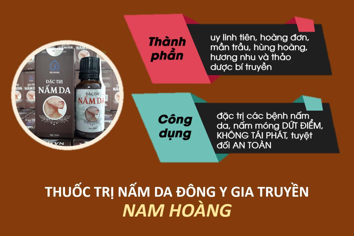 Thuốc trị nấm da đông y Nam Hoàng