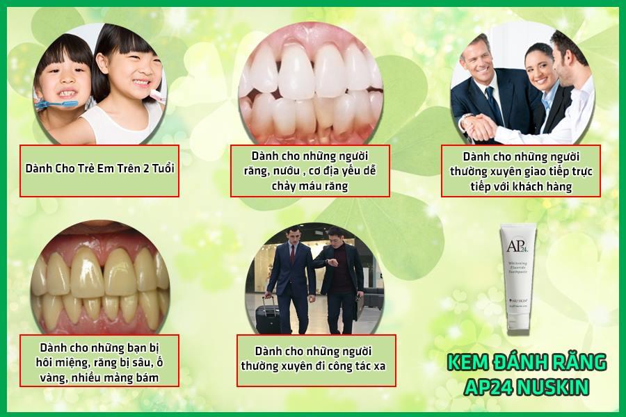 Ai cần sử dụng kem đánh răng cao cấp AP24 của Mỹ