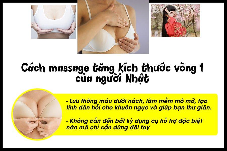 Cách massage tăng kích thước vòng 1 của người Nhật