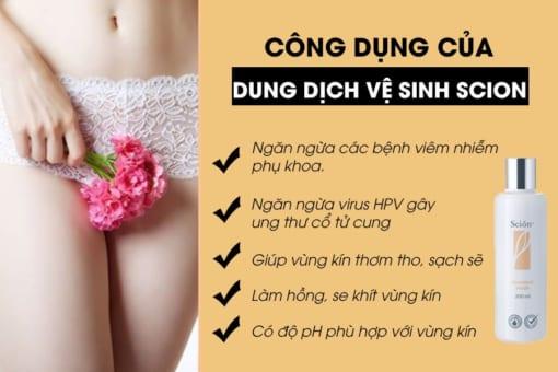 Công dụng của dung dịch vệ sinh phụ nữ scion