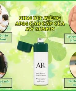 Dành cho ai sử dụng chai xịt miệng ap 24 cao cấp của mỹ nuskin