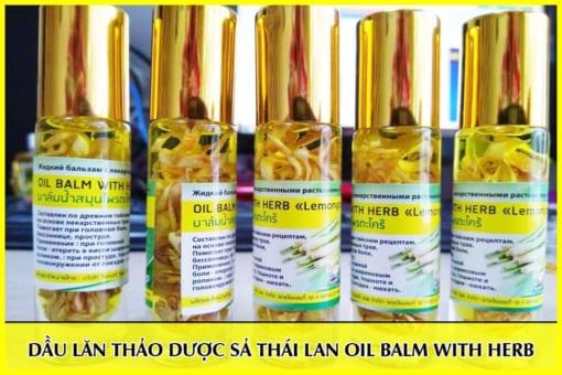 Dầu lăn thảo dược từ sả Thái Lan oil balm with herb