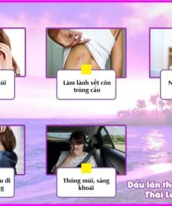 Tác dụng dầu lăn thảo dược bạc Hà Thái Lan màu tím