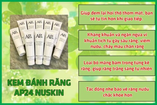 Tác dụng kem đánh răng Ap 24 Nuskin