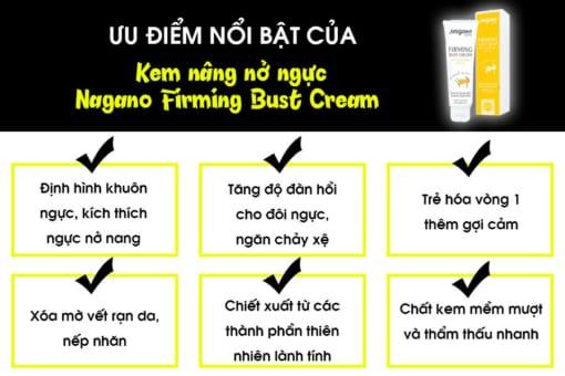 Ưu điểm của kem nở ngực của Nhật Nagano Firming Bust Cream