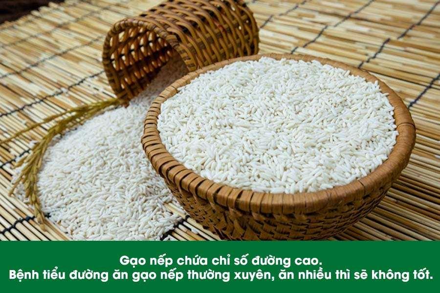 Bệnh tiểu đường ăn gạo nếp có được không