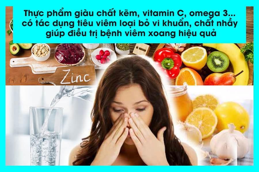 Bị viêm xoang nên ăn gì