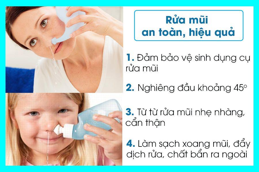 Hướng dẫn rửa mũi chữa viêm xoang đúng cách