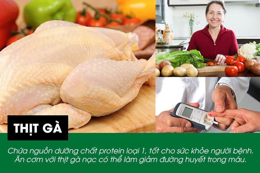 Thịt gà tốt cho bệnh tiểu đường